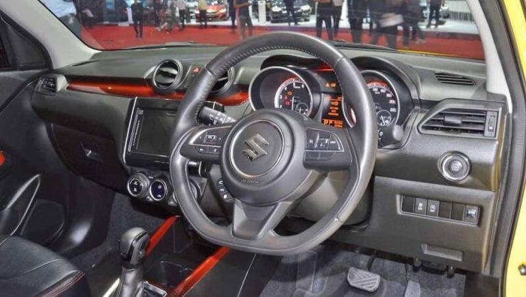Custom Swift Sport interior
