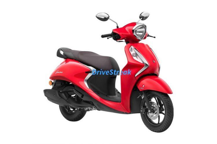 Yamaha fascino vivid red colour