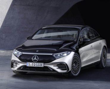 All-electric Mercedes-Benz EQS front