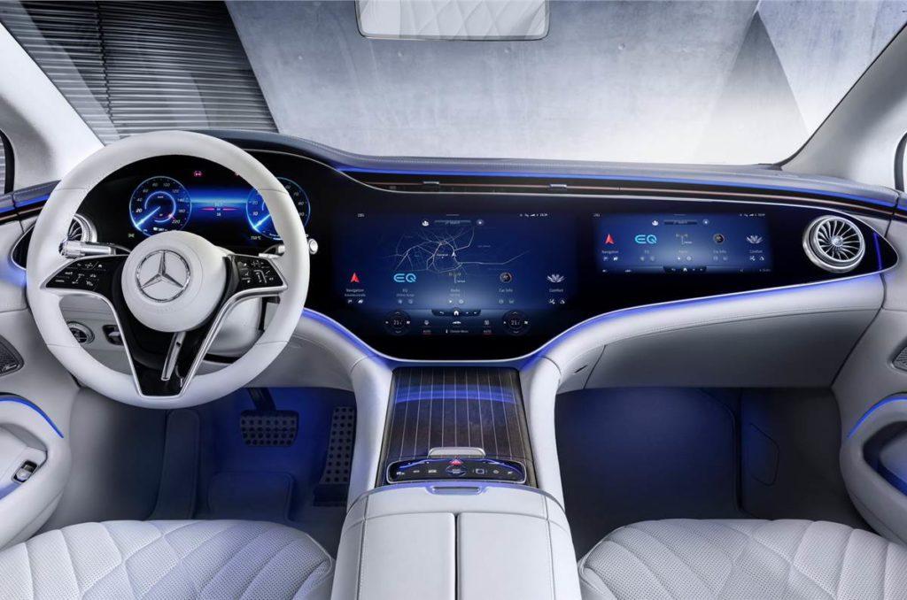 All-electric Mercedes-Benz EQS interiors