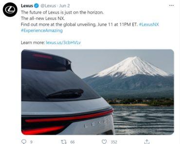 All-New Lexus NX Teased, Global Reveal on June 12