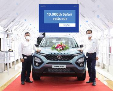 Tata Motors Rolls Out 10,000th Tata Safari From Production Line
