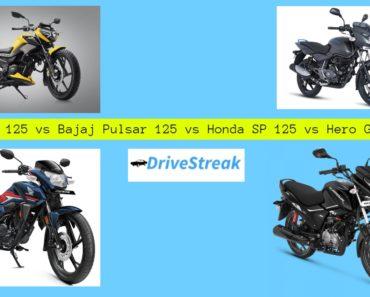 TVS Raider 125 vs Bajaj Pulsar 125 vs Honda SP 125 vs Hero Glamour 125 – Comparison