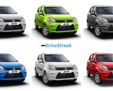 Maruti Suzuki Alto Colours; 6 Colours To Choose – Which One Will Be Your Pick?
